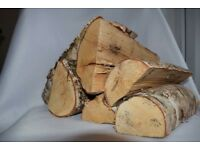 Kiln dried hardwood logs and coal