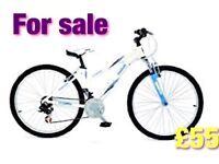 Reebok freedom ladies mountain bike 21 gears 17 inch frame aluminium 26 inch wheels