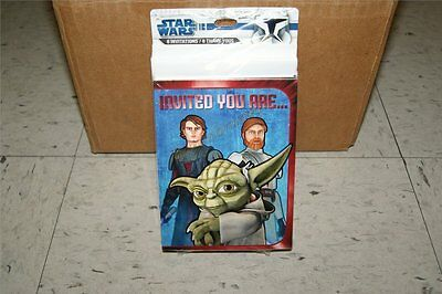 Star Wars Clone Wars 8 Invitations and 8 Thank You Cards by Hallmark - Star Wars Thank You Cards