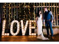 Stunning Vintage Rustic Style Light Up LOVE Letters For Hire - Wedding, Party & Event - East Sussex