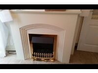 Electric fire with built in Surround