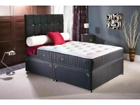 🔵💖🔴PREMIUM QUALITY🔵💖🔴Double Divan Bed with Orthopedic mattress Single & King also