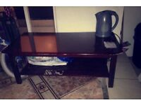 Glossy Wooden Coffee Table
