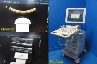Philips Hd11xe Ultrasound System W Philips L12-5 C9-4 Transducer Probes 25368