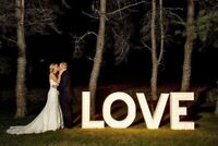 Wedding LOVE Marquee sign