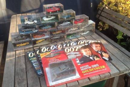 James Bond Car Collection 18 cars + extra 1st issue MINT cond Goodwood Unley Area Preview