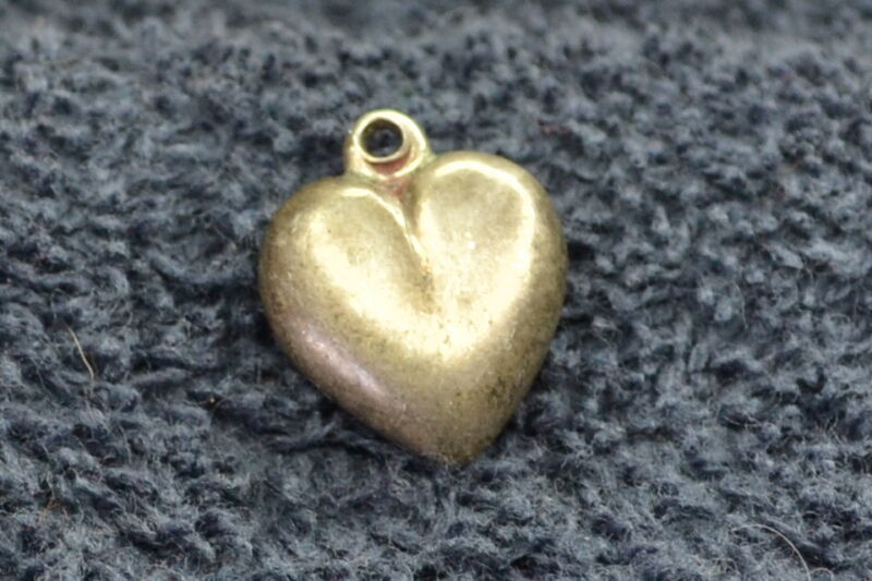 Sterling Silver ~1 grams 3-D Heart Charm or Pendant - Puffy