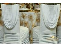 Lycra Wedding Chair Cover & Sash Hire from only 95p DIY and from £1.95 fitted - E. London & Essex