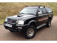 2005 MITSUBISHI L200 WARRIOR 2.5 DIESEL LWB PICK UP 4X4, LEATHER SEATS NEW TYRES MOT9 MONTH HPI CLER