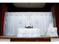 Wedding Decor | Flower Wall Hire Only £250 | Chair Cover Hire from only 79p DIY, Setup fro m£1.80