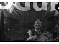 DRUMMER AVAILABLE to dep/stand in for one-off gigs