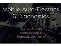 Mobile Auto-Electrics and Diagnostics - Car won't start? Immobiliser issues? Suspicious dash lights?