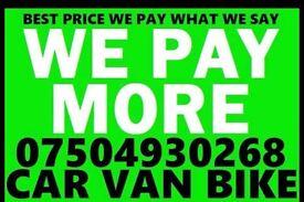 07504 930268 Cars vans motorcycle wanted scrap no mot cash today Ff