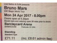 Standing ticket Bruno Mars