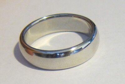 1999 Tiffany & Co Platinum Lucida Gent Men wedding band 6mm plain size 9.5 PT950 (6mm Platinum Plain Wedding Band)