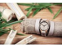 Natural Bamboo Watch Handcrafted