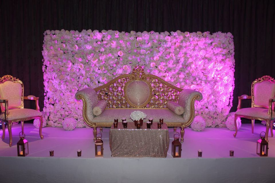 Invitation cards,Decorations,Flowers,Cutlery, Crystal Chandeliers, Chair Covers & Table Linen