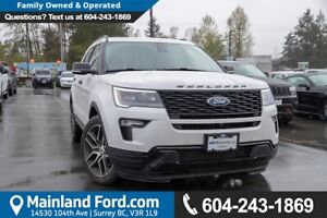 2018 Ford Explorer Sport ACCIDENT FREE, BC LOCAL, LOW KMS