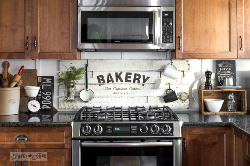 Create a rustic, farmhouse kitchen with these easy ideas! By Funky Junk Interiors for eBay