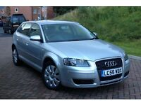 2007 AUDI A3 1.9 TDI, SPORTBACK, SPECIAL EDITION, GENUINE 65231 MILES, FULL HISTORY, MOT 9 MONTHS
