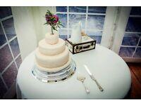 "SILVER ROUND 14"" wedding cake stand base plinth"
