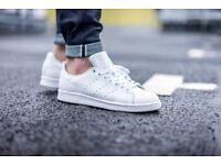 adidas stan smith size 10 white/white