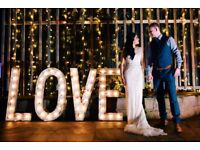 Vintage/Rustic Light Up LOVE Letters for Hire - Wedding Hire For Sussex & Kent