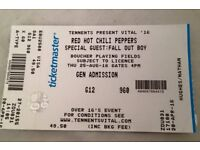 1 Red Hot Chilli Pepper Ticket For Sale Tennent's Vital Belfast Thursday 25th August