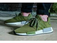 Adidas originals NMD R1 *FOOTLOCKER EXCLUSIVE* in Olive RARE with BOOST TECH
