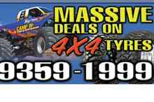 MASSIVE DEALS ON ALL 4WD TYRE'S BIG BRANDS @ BANGING PRICES!!! Broadmeadows Hume Area Preview