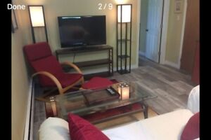 New Fully Furnished One Bedroom Utilities Included