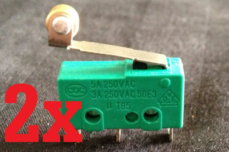 2 Pieces  2x MICRO SWITCH SPDT HINGE ROLLER LEVER 15A KW4-3Z 5A 3A 12V  B1