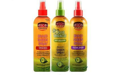 African Pride Olive Miracle Braid Sheen Spray 12 oz (All Types) ()