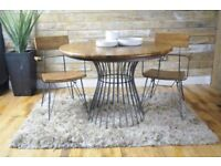 Loft Style Round Bistro Dining Table - New - Delivery Included