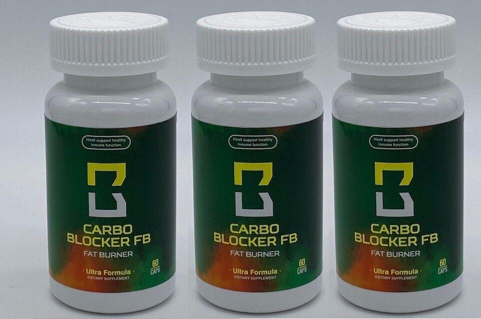 Carbo Blocker FB (3 Bottles)  As seen on TV Fat burner Weight Loss Pierda Peso