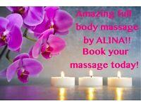 AMAZING FULL BODY MASSAGE BY ALINA!!