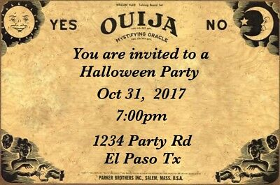 Halloween Birthday Party Invitations custom personalized digital - Custom Halloween Birthday Invitations