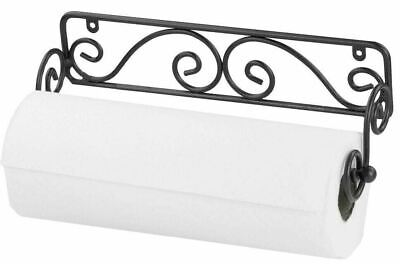 Home Basics NEW Wall Mounted Scroll Design Paper Towel Holder - PH44669
