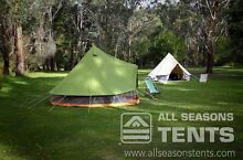 4m or 5m Bell Tent | Canvas Bell Tent | Canvas Tent | Glamping Ringwood North Maroondah Area Preview