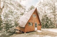 Cozy A Frame cabin for rent