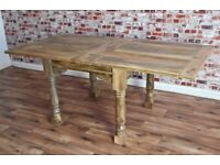 Kitchen Table Extending Rustic Reclaimed Farmhouse Dining Extendable -3 ft - 6 ft - Free Delivery