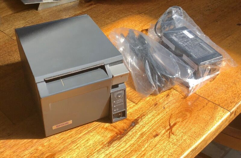 Epson M225A TM-T70 Thermal Receipt W/ Brand New Power Supply Tested