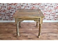 Sherston Rustic Flip-Top Extending Rustic Dining Table Drop-Leaf Farmhouse Extender