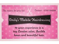 10 years salon experience, competitive prices, flexible hours