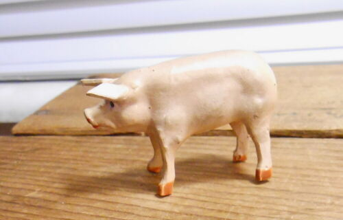 Vintage Germany Composition STANDING PIG - Wood Legs