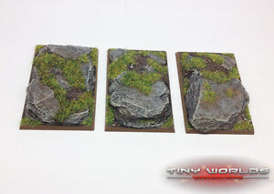 Wargaming 50mm x 75mm Monstrous Cavalry Rock Slate Resin Bases - Giant Demigryph