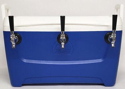Jockey Box Cooler 3 Faucet 516 X 50 Stainless Steel Coils 48qt Draft Beer