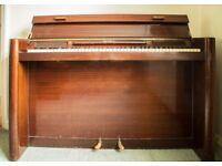 Mahogany Eavestaff mini grand piano