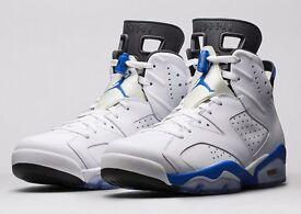 Nike Air Jordan retro blue and white