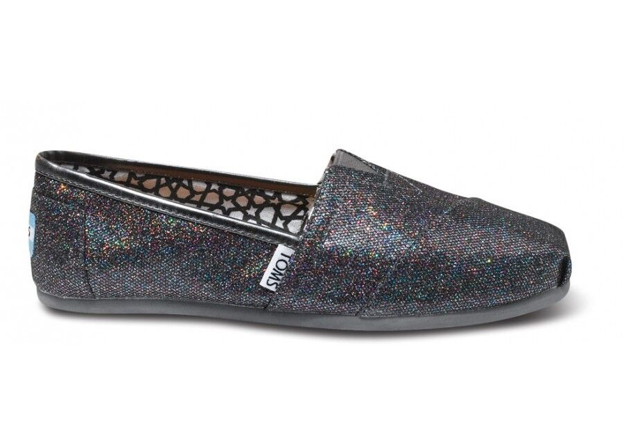$36.99 - New Authentic Women Multi Glitter Toms Shoes